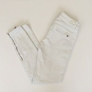 Paige Jeans Marley Optic White Moto Zipper